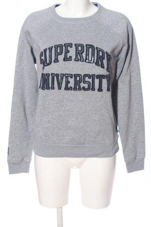 Superdry Felpa grigio chiaro-nero puntinato stile casual