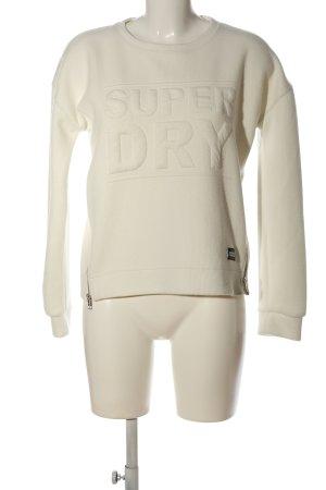 Superdry Sweatshirt weiß Casual-Look