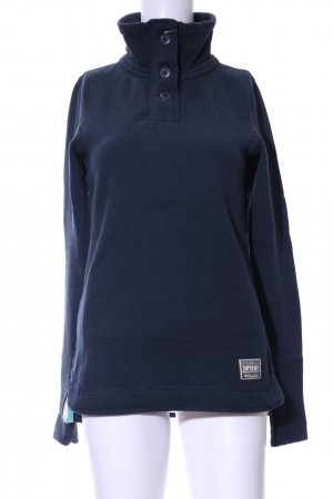 Superdry Sweatshirt blau Casual-Look
