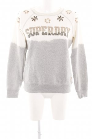 Superdry Sweatshirt hellgrau-wollweiß Casual-Look
