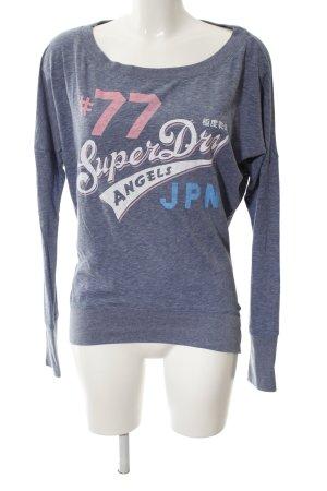 Superdry Sweatshirt blau Allover-Druck Casual-Look