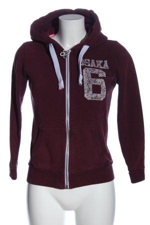 Superdry Sweatshirt rot Motivdruck Casual-Look