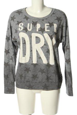 Superdry Sweatshirt hellgrau Allover-Druck Casual-Look