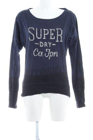 Superdry Sweatshirt dunkelblau Casual-Look