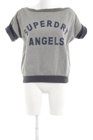 Superdry Sweatshirt grau-blau meliert sportlicher Stil