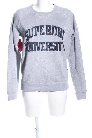 Superdry Sweatshirt hellgrau-schwarz meliert Casual-Look