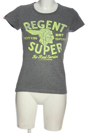 Superdry T-Shirt hellgrau-grün meliert Casual-Look