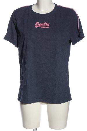 Superdry T-Shirt blau meliert Casual-Look