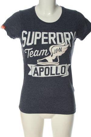 Superdry T-Shirt blau-weiß meliert Casual-Look