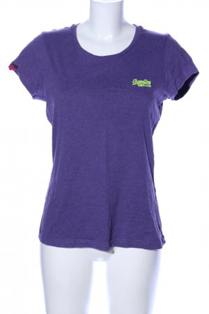 Superdry T-Shirt lila meliert Casual-Look