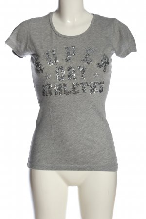 Superdry T-Shirt hellgrau meliert Casual-Look