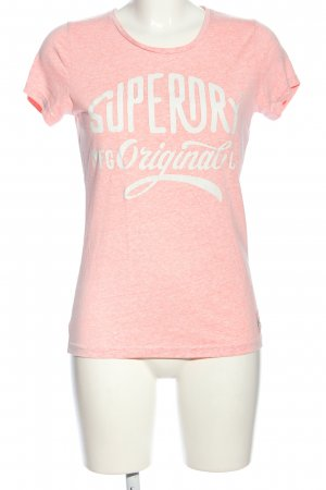 Superdry T-Shirt pink-weiß meliert Casual-Look