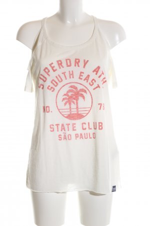 Superdry T-Shirt weiß-rot Motivdruck Casual-Look