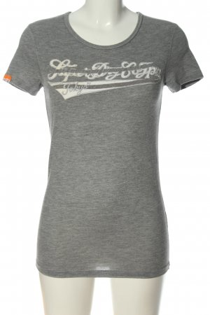 Superdry T-Shirt hellgrau-weiß meliert Casual-Look
