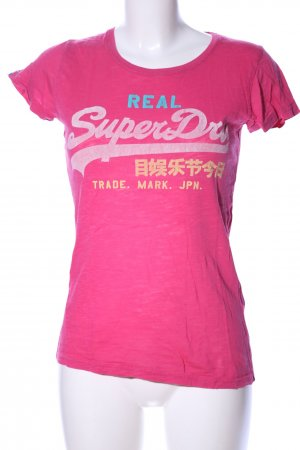 Superdry T-Shirt pink Motivdruck Casual-Look