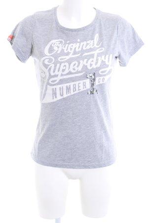 Superdry T-Shirt hellgrau meliert Casual-Look