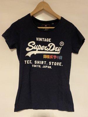 Superdry T-Shirt Dunkelblau in Größe M