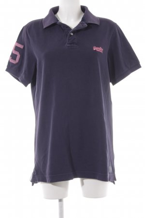 Superdry T-Shirt dunkelviolett Casual-Look