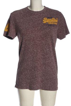 Superdry T-Shirt braun meliert Casual-Look