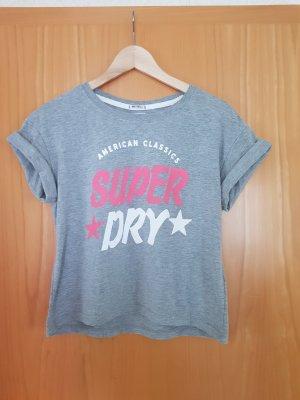 Superdry Cropped Shirt grey-pink