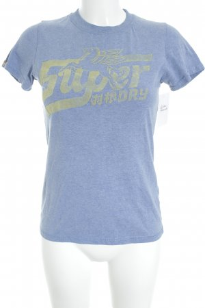 Superdry T-Shirt kornblumenblau Casual-Look