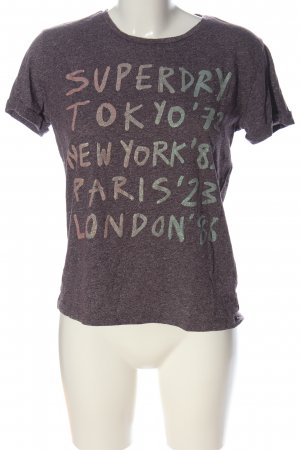 Superdry T-Shirt lila-hellgrau meliert Casual-Look