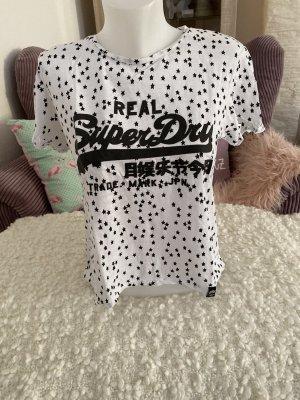 Superdry T-Shirt Oversize Gr S weiß mit Sterne