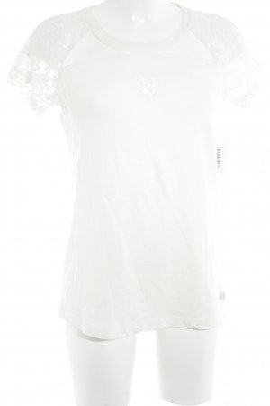 Superdry T-Shirt wollweiß Romantik-Look