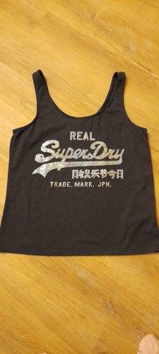 Superdry Top línea A gris oscuro