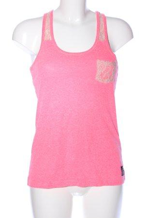 Superdry Tanktop pink meliert Casual-Look