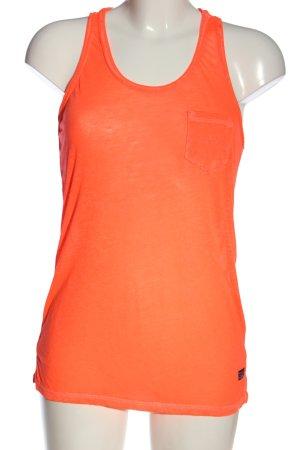 Superdry Tanktop licht Oranje casual uitstraling
