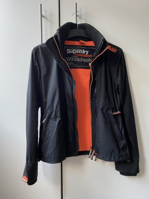 Superdry Windjack zwart-neonoranje Nylon