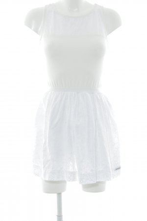 Superdry Trägerkleid weiß-creme Blumenmuster Casual-Look