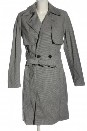 Superdry Trenchcoat schwarz-weiß Allover-Druck Business-Look