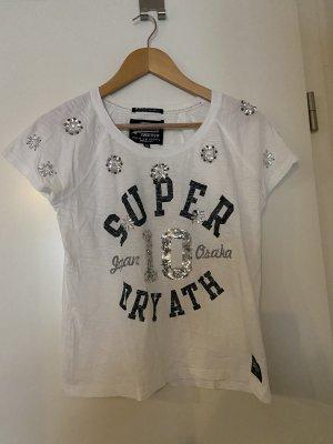 Superdry Boatneck Shirt white-black