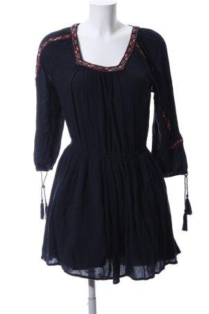 Superdry Robe tunique noir-rouge motif graphique style décontracté