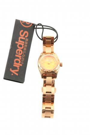 Superdry Watch With Metal Strap gold-colored business style