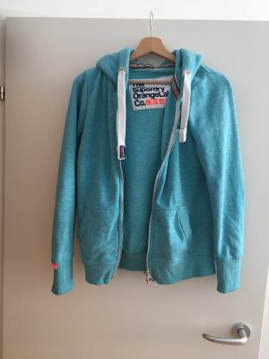 Superdry Hooded Vest turquoise