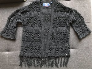 Superdry Cardigan all'uncinetto nero Cotone