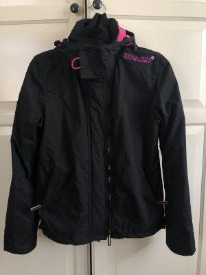 Superdry Windbreaker black-pink