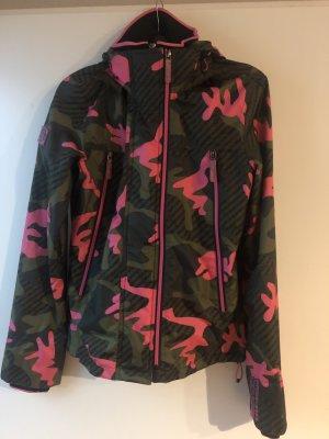 SUPER DRY Cortaviento rosa-verde oscuro