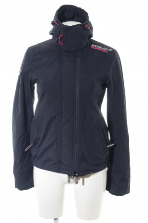 Superdry Windbreaker blue embroidered lettering casual look