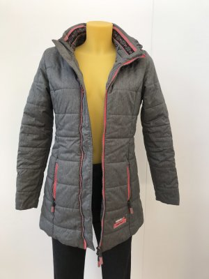Superdry Winter Jacket grey-neon pink