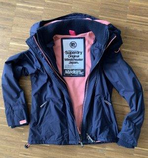 Superdry Winterjacke Damen, blau/pink, Größe M