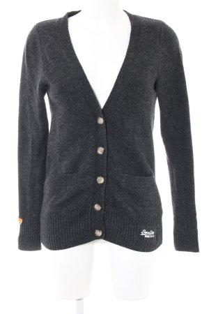 Superdry Chaqueta de lana negro moteado look casual
