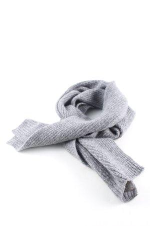 Superdry Bufanda de lana gris claro moteado look casual