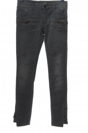 Superfine Low-Rise Trousers light grey casual look