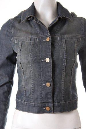 Superfine Veste en jean gris anthracite-gris ardoise