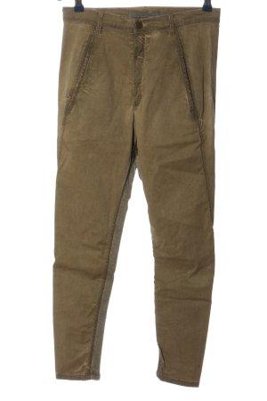 Superfine Drainpipe Trousers bronze-colored casual look