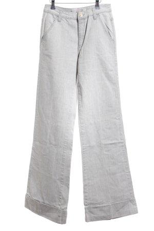 Superfine Pantalon pattes d'éléphant gris clair style mode des rues